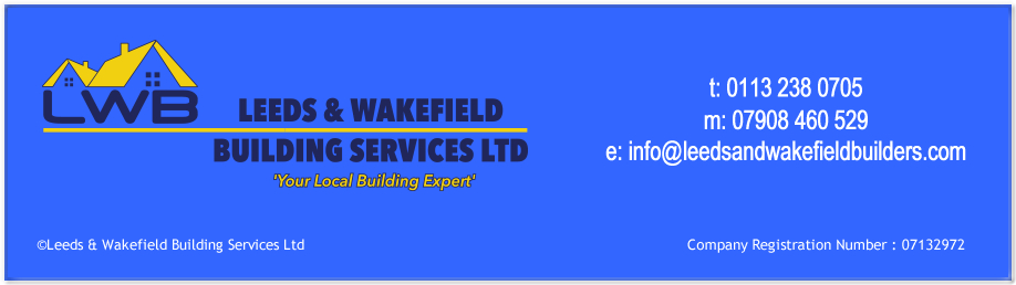 Leeds and Wakefield Builders footer