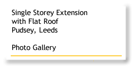 Single Storey Extension with Flat Roof, Pudsey, Leeds